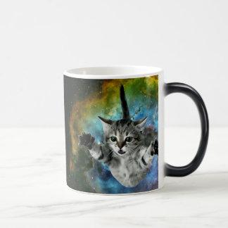 Mug Magic Lancement de chaton d'univers de chat de galaxie