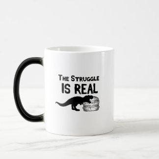 Mug Magic le dinosaure T Rex le Struggl est vrai hamburger