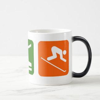 Mug Magic Mangez le ski de sommeil