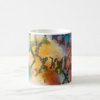 Mug Magic Motif abstrait coloré de peau de serpent
