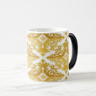 Mug Magic Or et damassé blanche de papier peint