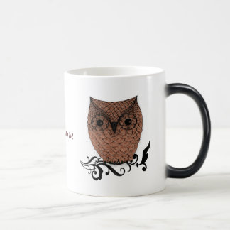 Mug Magic Pays lunatique de hibou de grange
