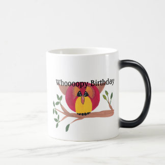 Mug Magic Peinture mignonne de hibou à cornes