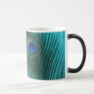 Mug Magic Plume bleue de paon d'Aqua métallique