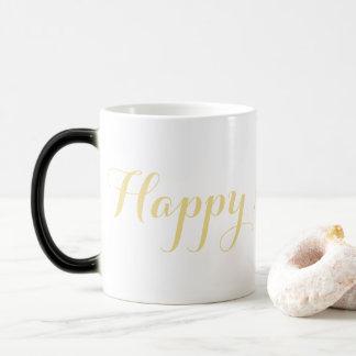 Mug Magic Thé magique de lait de café d'or de Faux de bonne
