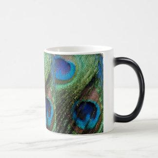 Mug Magic Verre souillé de paon bleu