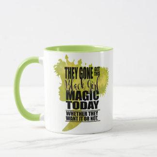Mug Magie noire verte de fille