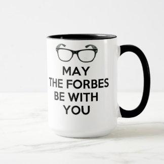 Mug Mai Forbes soit avec vous noir et blanc