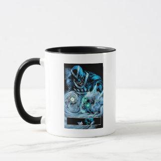 Mug Main noire avec le panneau de crâne