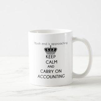 Mug Maintenez calme et continuez la comptabilité