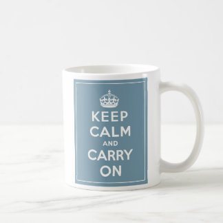 Mug Maintenez calme et continuez le bleu d'oeufs de