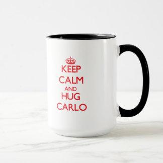 Mug Maintenez calme et ÉTREINTE Carlo
