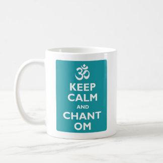 Mug Maintenez calme et le chant OM