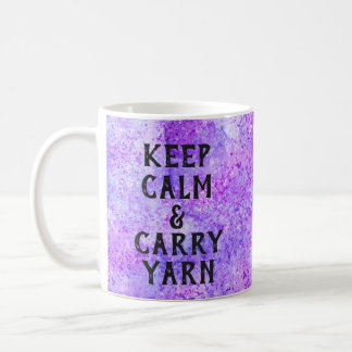 Mug Maintenez calme et portez le pourpre de fil
