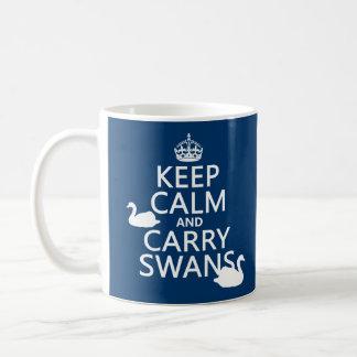 Mug Maintenez calme et portez les cygnes - toutes les