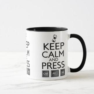 Mug Maintenez le contrôle alt calme et de presse et