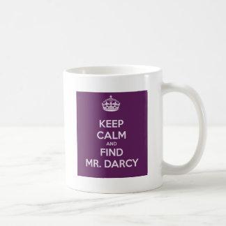 Mug Maintenez M. Darcy Jane Austen calme et de