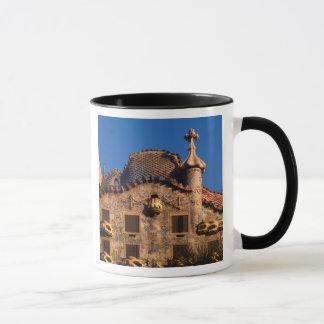 Mug Maison Batilo, architecture de Gaudi, Barcelone,