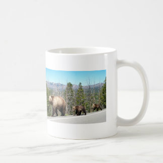 Mug Maman et CUB sauvages d'ours gris dans Yellowstone