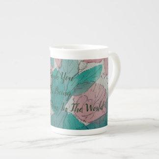 Mug maman peu précise contempory de fleurs et de