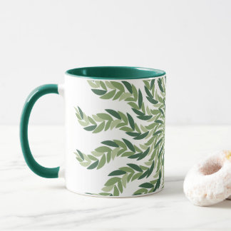 Mug Mandala naturel de feuille