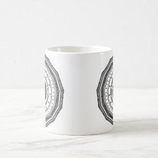 Mug Mandala noir et blanc avec le yang de yin