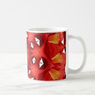 Mug Mandala rouge de camélia