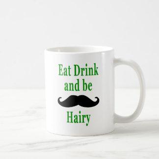Mug Mangez la boisson et soyez velu