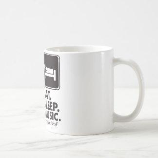 Mug Mangez la musique de sommeil - noir