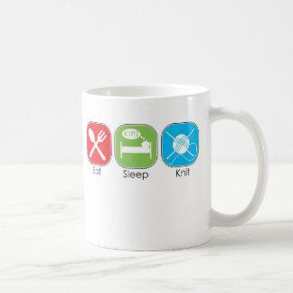 Mug Mangez le Knit de sommeil