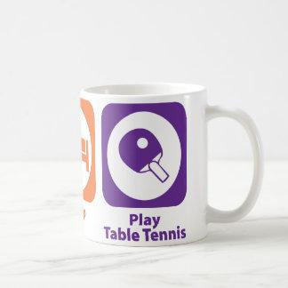 Mug Mangez le ping-pong de jeu de sommeil