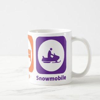 Mug Mangez le Snowmobile de sommeil
