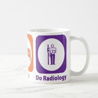 Mug Mangez le sommeil font la radiologie