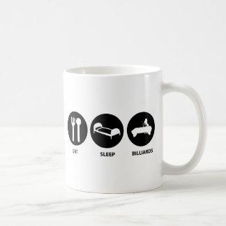 Mug Mangez les billards de sommeil
