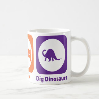 Mug Mangez les dinosaures de fouille de sommeil