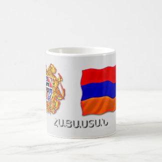 Mug manteau arménien des bras et du drapeau