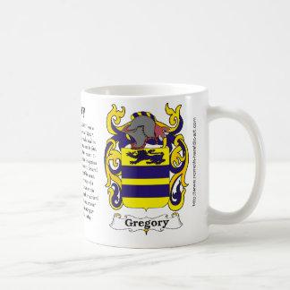 Mug Manteau de famille de Gregory des bras sur une