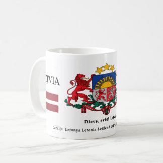 Mug Manteau de symboles nationaux de la Lettonie des