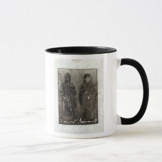 Mug Manuel I Comnenus et impératrice Maria d'Antioch