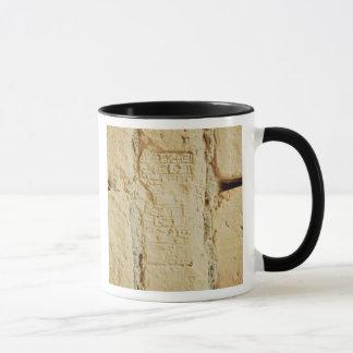 Mug Manuscrit cunéiforme sur un mur de palais