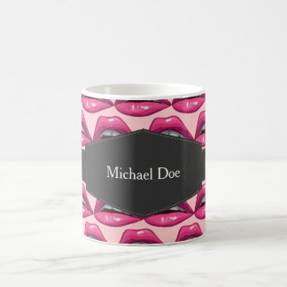 Mug Maquillage de lèvres de rose d'art de bruit