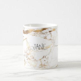 Mug MARBRE de BLANC de PixDezines+VEINES D'OR DE FAUX