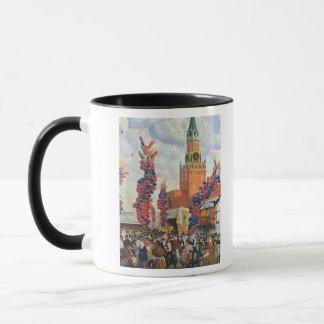 Mug Marché de Pâques à Moscou Kremlin, 1917