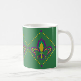 Mug Mardi gras Fleur de Lis