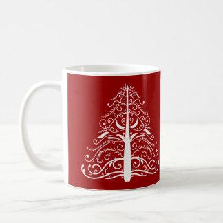 Mug Mariage rouge d'hiver d'arbre de Noël