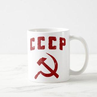 Mug marteau vintage et faucille de l'URSS de cccp