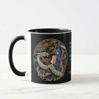 Mug Massacrez votre cadeau de Dragons.Personalized.