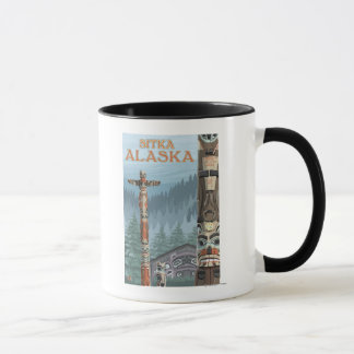 Mug Mâts totémiques de l'Alaska - Sitka, Alaska
