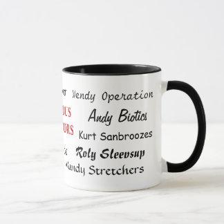 Mug Médecins célèbres - docteur drôle Names