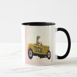Mug Meerkat dans le hot rod 3